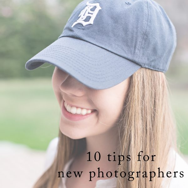 Advice for new photographers